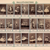 Ballet-Costume, Ludwig Angerer um 1862, 40 x 60 cm, Coll.Mila Palm