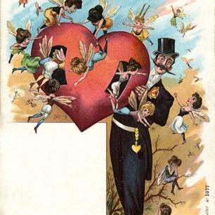Mein Herz ist ein Bienenhaus II um 1900, 30 x 22 cm