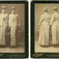 Wilhelm Burger, Töchter des Grafen Wilczek, Albuminabzüge um 1880, Coll.Mila Palm