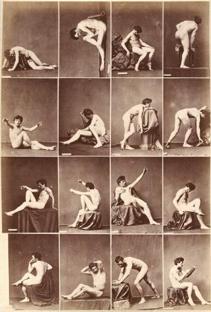 Aktstudien, Verlag Calavas, Albuminabzug um 1880