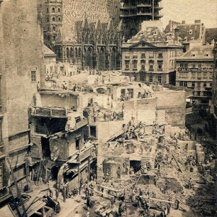 Demolierung des Elephantenhauses um 1865, 40 x 30 cm © Milaneum 2017