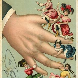 Postkarte um 1900, Lithographie