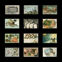 Geld in der Postkartenwelt um 1900 © Milaneum 2017