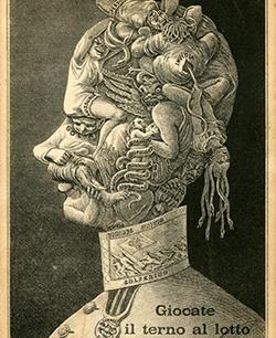Kaiser Franz Joseph Metamorphose um 1912, 40 x 25 cm, Kaiser Franz Joseph Karikatur um 1912 © Milaneum 2017