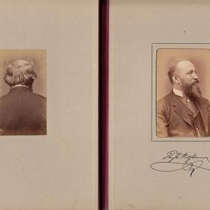 Ausschnitt, Wiener Unternehmer um 1880, Album mit Portraits von zwei Seiten, Coll.Mila Palm