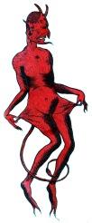 Graphik um 1900, der Teufel ist Pleite, Stahlstich © Milaneum 2018
