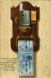 Postkarte um 1900, Banknoten als Klopapier, Lithographie © Milaneum 2018
