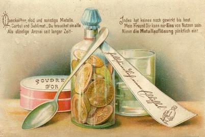 Postkarte um 1900, Die beste Medizin, Lithographie © Milaneum 2018