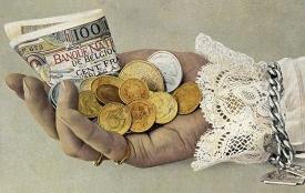 Postkarte um 1900, Neujahrskarte, Lichtdruck © Milaneum 2018
